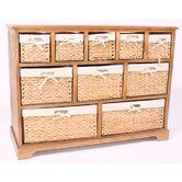 Wicker 10 Drawers Cabinet
