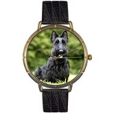 Unisex Scottie Photo Watch with Black Leather