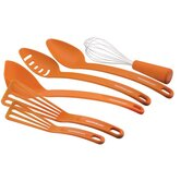 2 Piece Spoon Set, Ladle,Whisk and 2 Piece Nylon Spatula Set