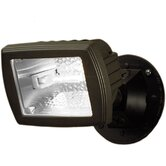 150 Watt Halogen Single Head Floodlight in Bronze
