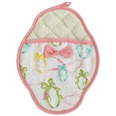 Easter Egg Ribbon Scalloped Pot Mitt