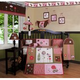 Boutique Ladybug Flower 12 Piece Crib Bedding Set