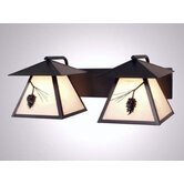 Ponderosa Pine Twin Prairie Vanity Light