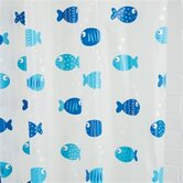 Wiggly Fish Vinyl Shower Curtain