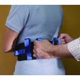 Deluxe Gait Belt with Quick-Release Buckle in Black / Royal Blue