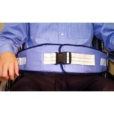 Resident-Release Cushion Belt with Quick-Release Closure in Light Blue