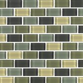 "Shimmer Blends 1"" x 2"" Glossy Mosaic in Ocean"