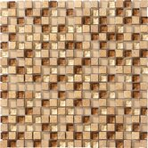 Crystal Stone 12&quot; x 12&quot; Glass/Stone Mosaic in Caramel