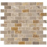 Jade 1&quot; x 2&quot; Decorative Brick Mosaic in Taupe