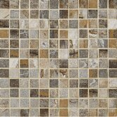 "Vesale Stone 1"" x 1"" Decorative Square Mosaic in Smoke"