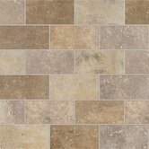 Walnut Canyon 2&quot; x 4&quot; Decorative Brick Mosaic in Cream