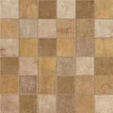 "Walnut Canyon 2"" x 2"" Decorative Square Mosaic in Golden"