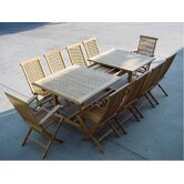 Valencia 15 Piece Double Extension Table Set and Classic Armchair and Chair