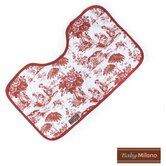 Baby Burp Cloth in Burgundy Toile