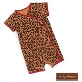 Kimono Infant Bodysuit in Leopard Print