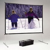 "Deluxe Complete Fast-Fold Portable Front and Rear Projection Screen - 10'6"" x 14' - 211"" Diagonal - Video Format - 4:3 Aspect - Dual Vision"