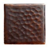 Solid Hammered Copper 2&quot; x 2&quot; Decorative Accent Tile