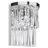 Josephine Two Light Crystal Wall Sconce in Polished Chrome