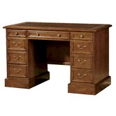Leather Inlay 48&quot; Pedestal Desk