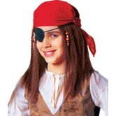 Buccaneer Child Costume Pirate Wig