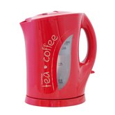 1.7 Litre 'Tea-Coffee' Cordless Kettle in Red