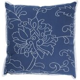 "T-2487 18"" Decorative Pillow in Dark Blue"
