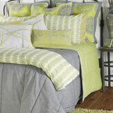 Aragon 11 Piece Comforter Set in Gray / Lime Green