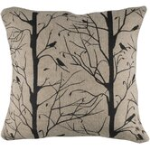 Natural and Black Decorative Pillow