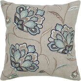 Beige and Blue Decorative Pillow
