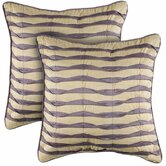Cream and Purple Decorative Pillow
