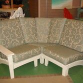 Chat Corner Sectional Piece with Cushions