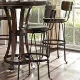 European Farmhouse Artisan's Apprentice Barstool in Distressed Terrain