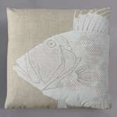 Dory White Pillow on Natural Linen