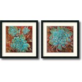 Blue Agave Framed Print by Jillian David Design (Set of 2)