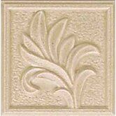 "Ash Creek 3"" x 3"" Glazed Ceramic Flora Insert Tile in Almond"