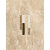 Torre Venato 9&quot; x 12&quot; Glazed Porcelain Decorative Wall Tile in Sabbia