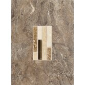 Torre Venato 9&quot; x 12&quot; Glazed Porcelain Decorative Wall Tile in Noce