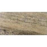 Natural Stone 12&quot; x 24&quot; Vein Cut Travertine Plank in Silver