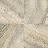 Natural Stone 18&quot; x 18&quot; Crosscut Travertine in Silver