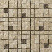 "1"" x 1"" Travertine Split Face Mosaic in Compound Beige"