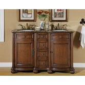 "Adela 52"" Double Sink Bathroom Vanity Cabinet"