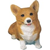 Original Size Pembroke Welsh Corgi Sculpture in Red
