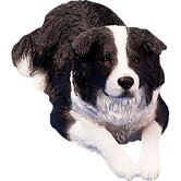 Original Size Border Collie Sculpture in Black / White