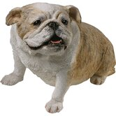 Original Size Sitting Bulldog Sculpture in Brindle
