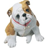 Life Size Bulldog Pup Sculpture in Fawn