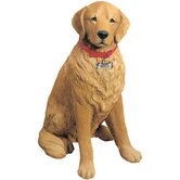 Life Size Large Golden Retriever Sculpture