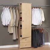 1 Door/ 2 Drawer Deluxe Closet Organizer with Rods