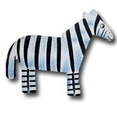 Zoo Friends Zebra Drawer Knob