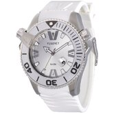 H2O Gent Men's Watch with White Rubber Band
