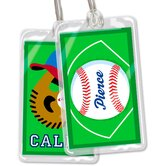 Baseball Personalized Name Tag Set